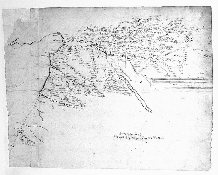 Pont's map of Strathoykel and Strathcarron