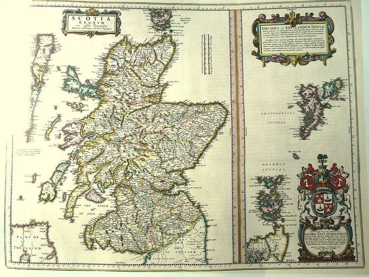 Blaeu's map of Scotland