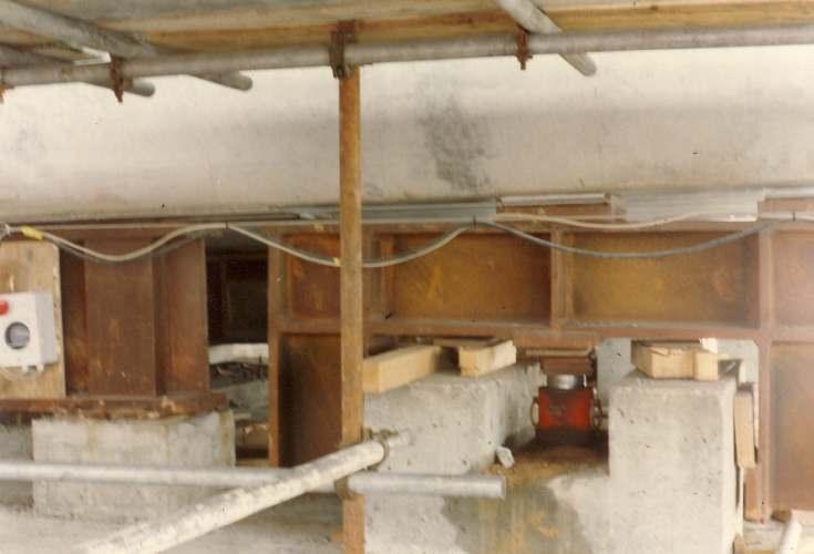 Dornoch Bridge Construction ~ Deck Sections below the Bridge