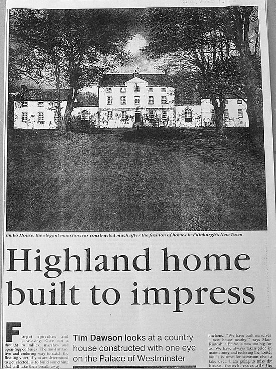 Embo House - 'Highland home built to impress'