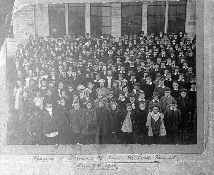 Group photograph opening of Dornoch Academy 1913