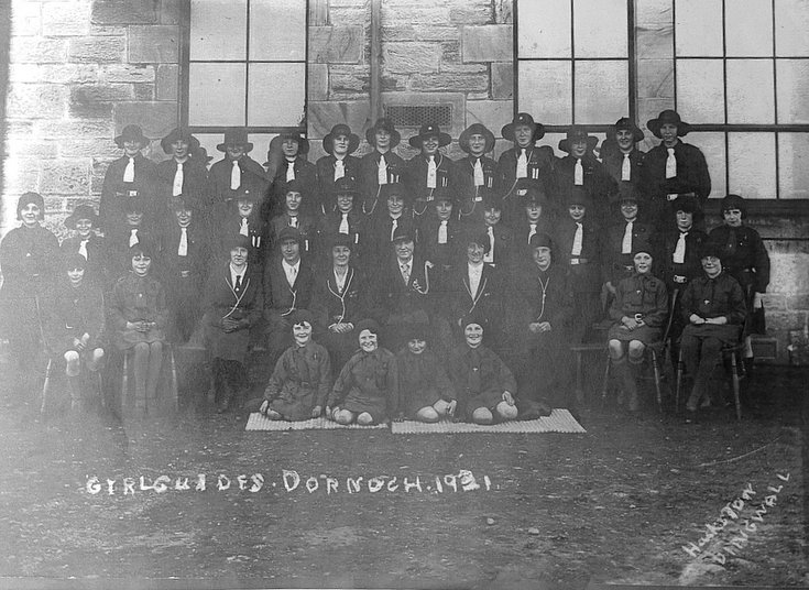 Group of Girl Guides and Brownies, Dornoch 1931
