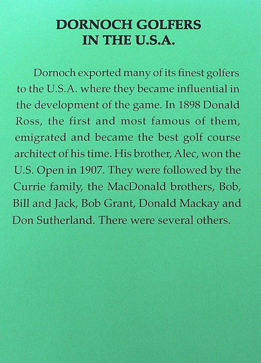 Dornoch golfers in the USA