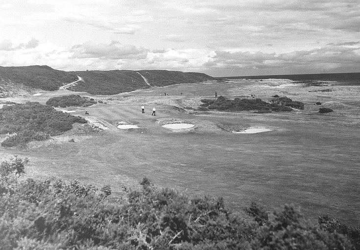 Photograph of Dornoch golf course c 1970