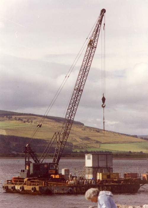 Dornoch bridge construction