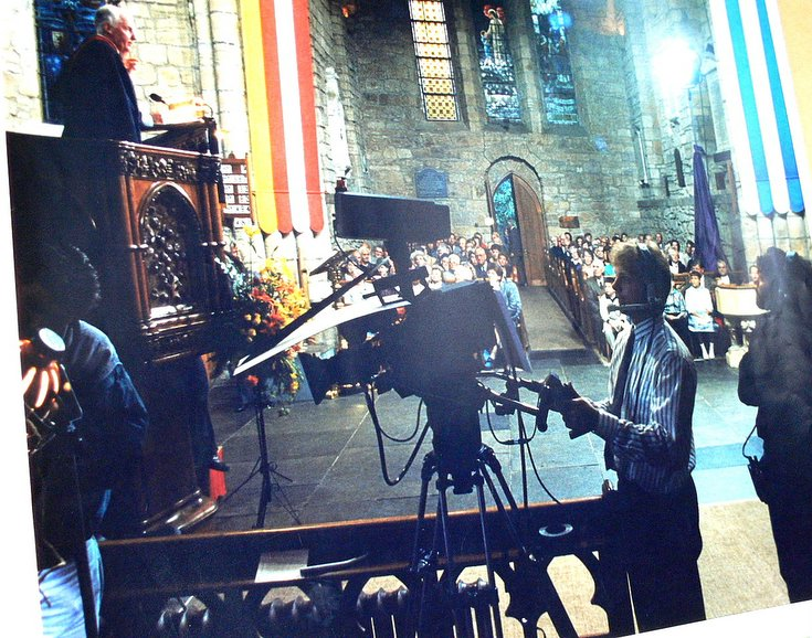 BBC filming of Cathedral 750th Anniversary Service 1989