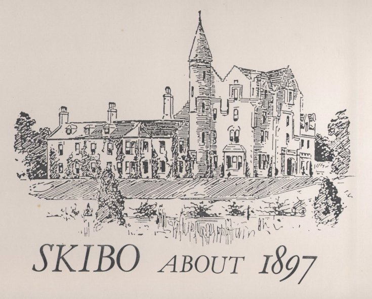 Line drawing of Skibo about 1897