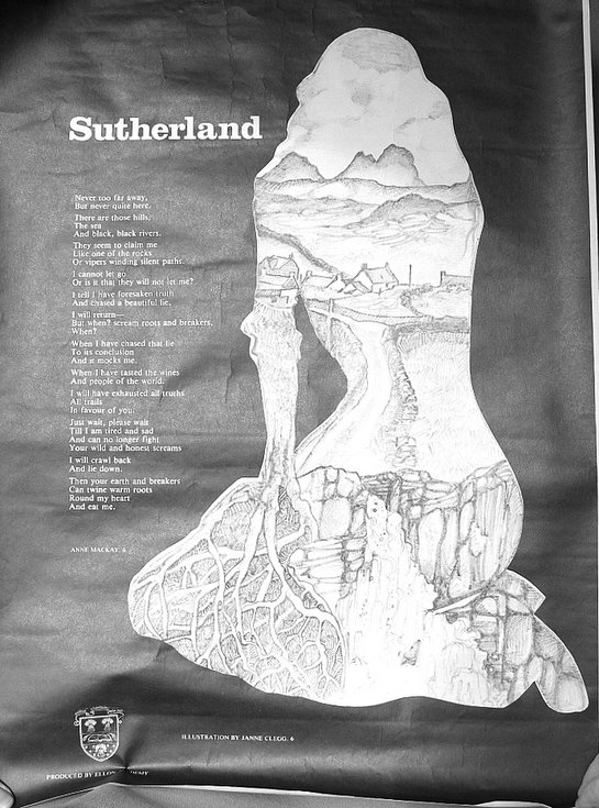 Sutherland poem and drawing