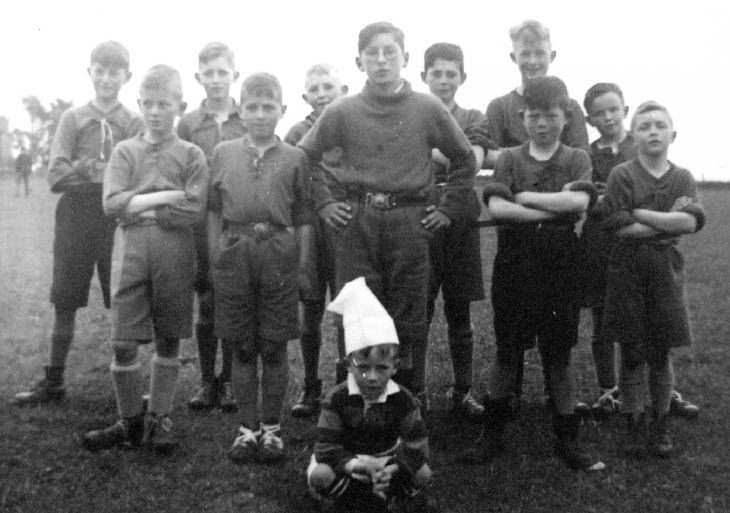 Photograph of Bishopfield Celtic Football Team, winners of Ice-cream Cup