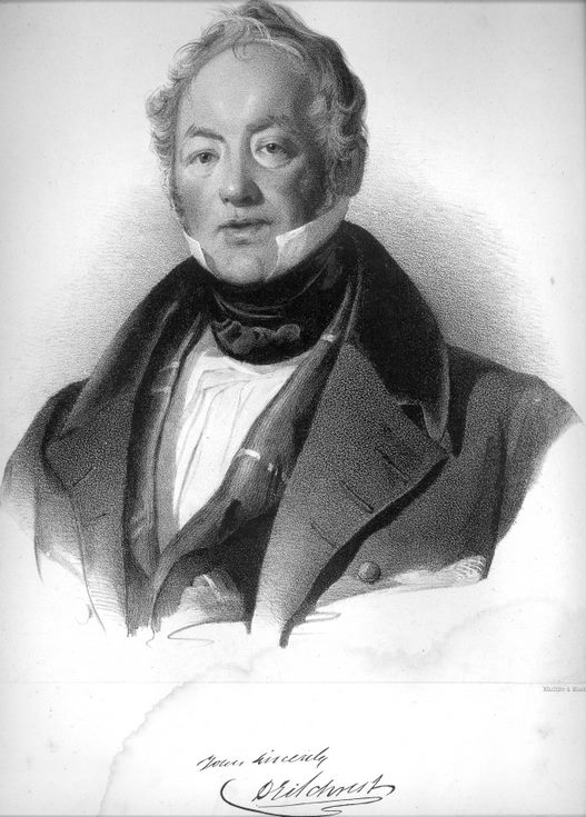 Print of portrait of Dugald Gilchrist by Thomas Duncan.