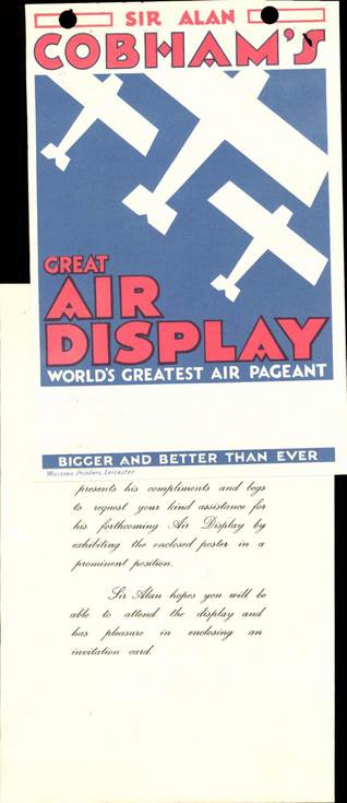 Dornoch Airfield - Sir Alan Cobham's Display