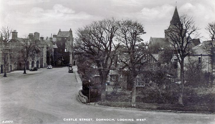 postcard (sepia photo) of Castle street