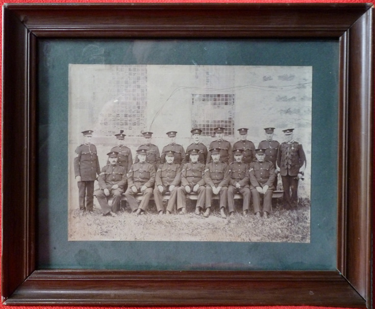 Sutherland Police Force - framed group photograph c 1890