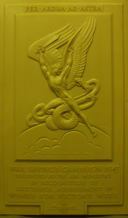 War Savings campaign 1945 presentation plaque