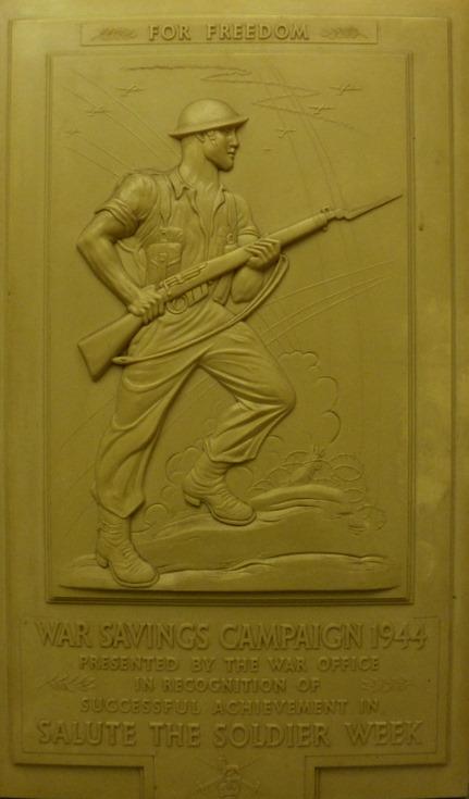 War Savings campaign 1944 presentation plaque