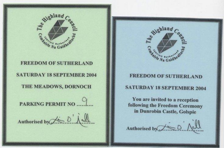 HMS Sutherland Freedom of Sutherland Parade - Reception