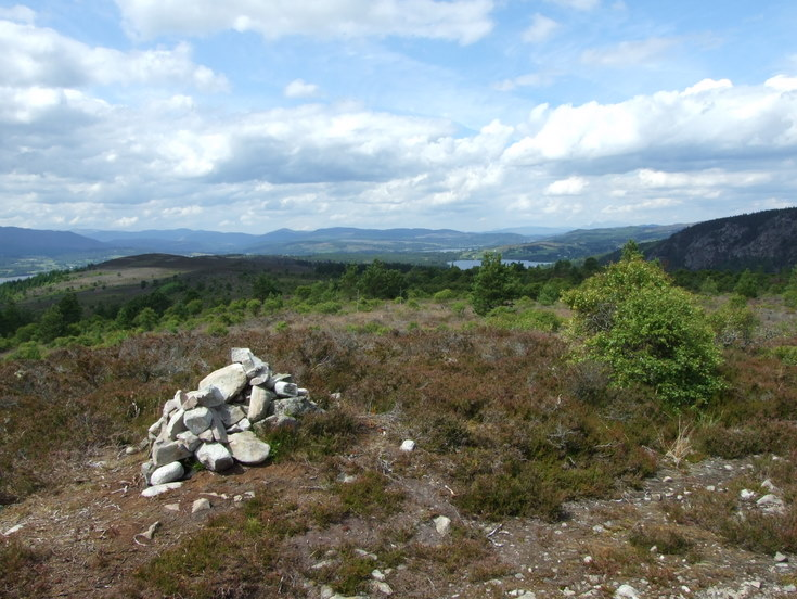 Ledmore and Migdale Wood walk - view from the summit cairn