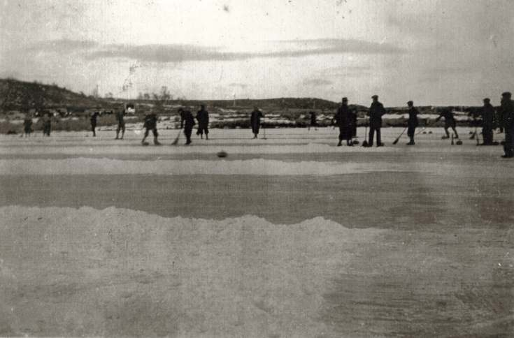 photograph of curling at Loch an Treel