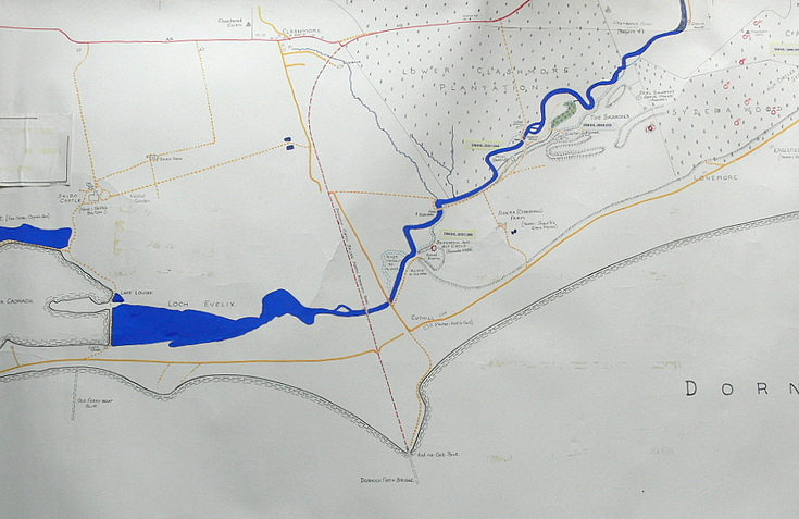 Key plan of Evelix Valley