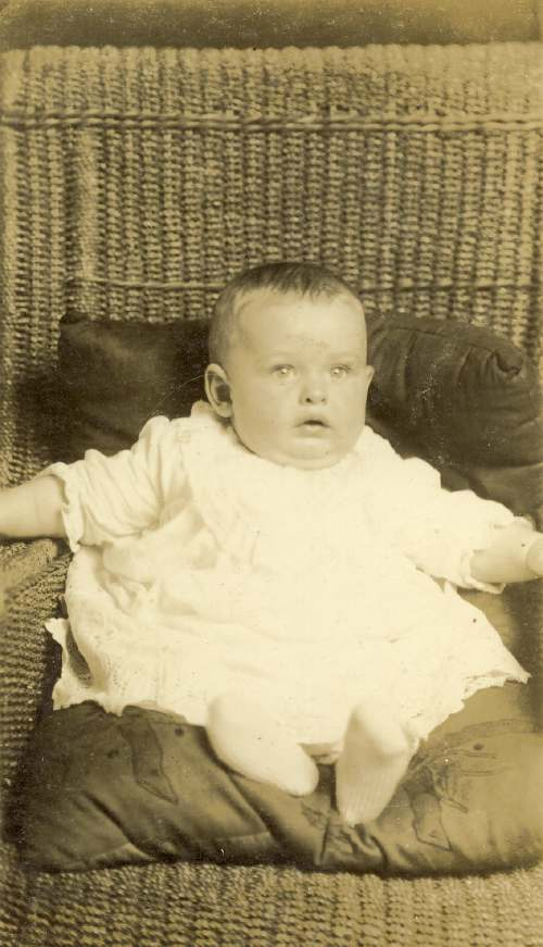 Jack Gordon as a baby