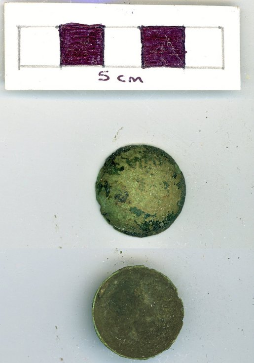 Objects discovered on Pitgrudy Farm - copper alloy button