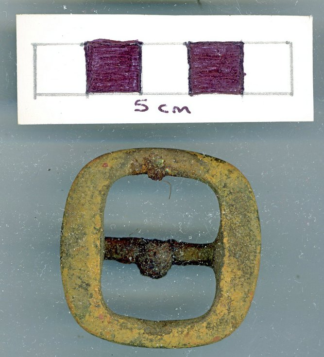 Objects discovered on Pitgrudy Farm -  horse harness buckle