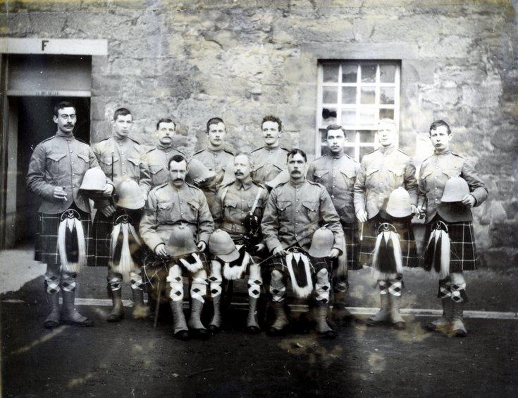 Dornoch Sutherland Volunteers leaving for Boer War
