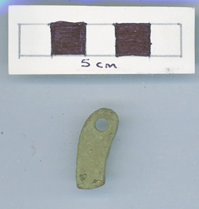 Objects discovered on Pitgrudy Farm - Copper alloy fitting