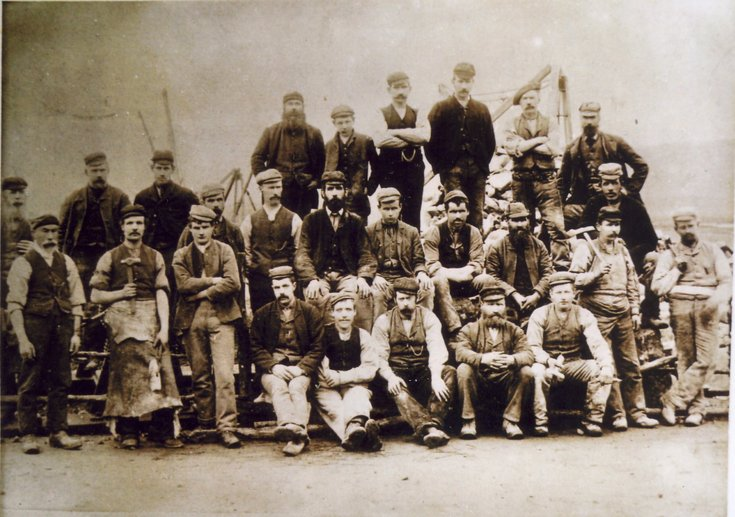 Group photograph of second Bonar Bridge workmen 1893