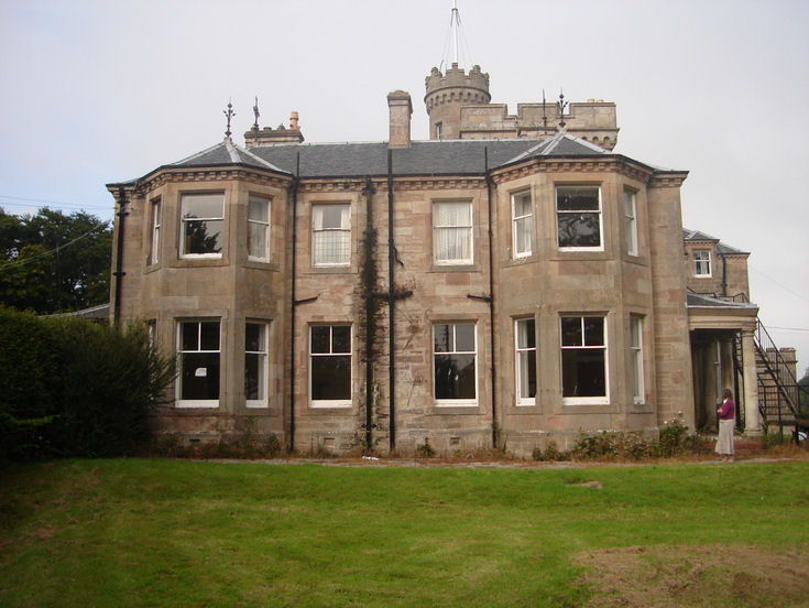 Burghfield House Hotel south side of the building 2008
