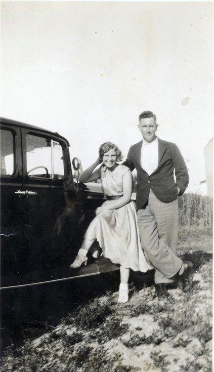 Christine (Rennie) with Robert John Mackay of Embo
