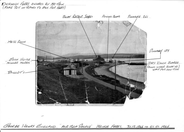Air Sea Rescue base at Meikle Ferry - annotated copy