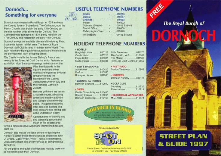 Dornoch Street Guide c 1997