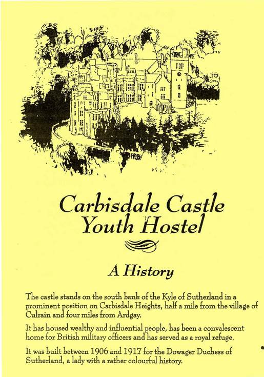 Carbisdale Castle Youth Hostel - A History