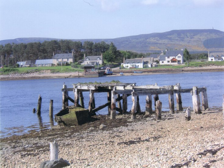 Pier at Littleferry c 2004
