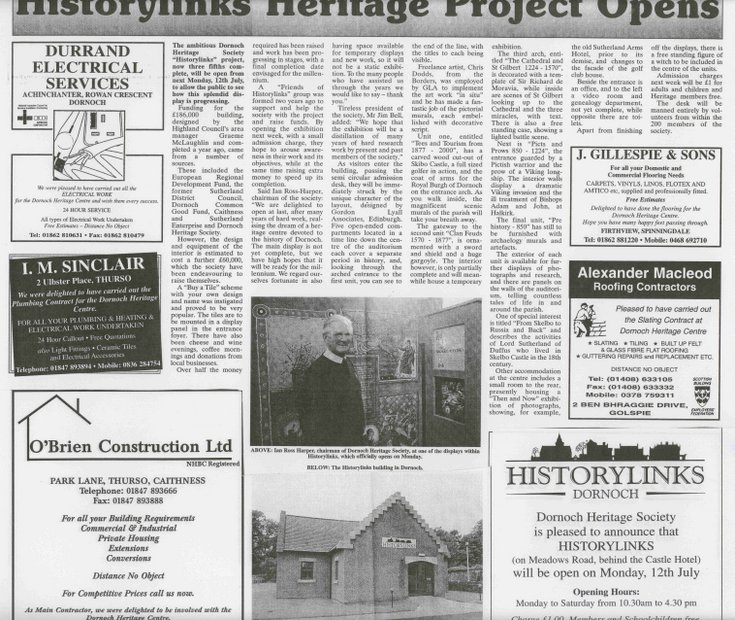 Historylinks Heritage Project Opens