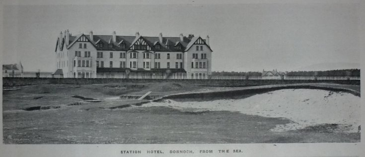 Station Hotel, Dornoch, from the sea 1907