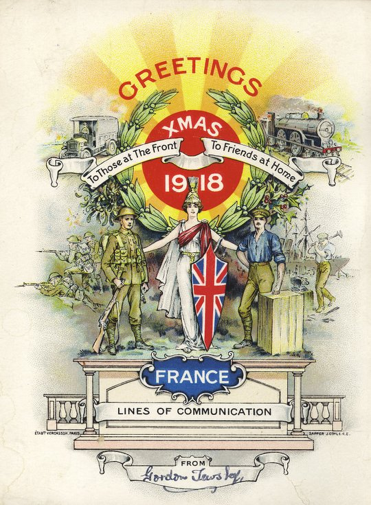 Xmas Greetings from the front 1918