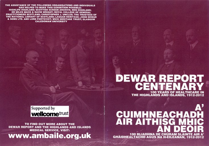 Complementary booklet to the Dewar Report Centenary Exhibition