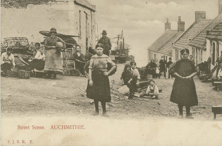 Fishing scenes around Scotland - Auchmithie street scene