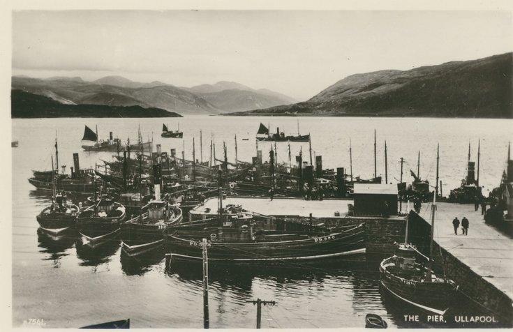 Fishing scenes around Scotland - 'The Pier Ullapool'