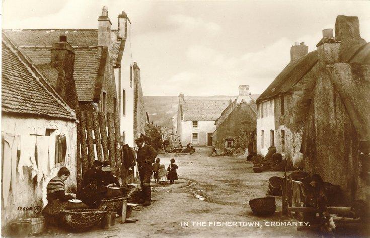 Fishing scenes around Scotland - 'In the fishertown, Cromarty'