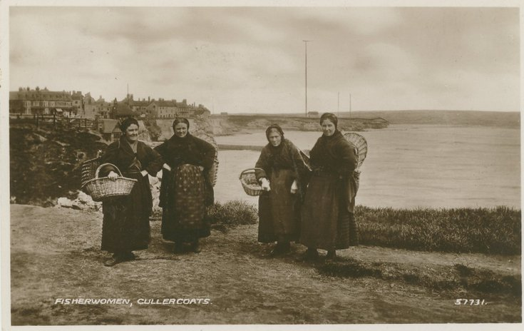 Fishing scenes around Scotland - 'Fisherwomen Cullercoats'