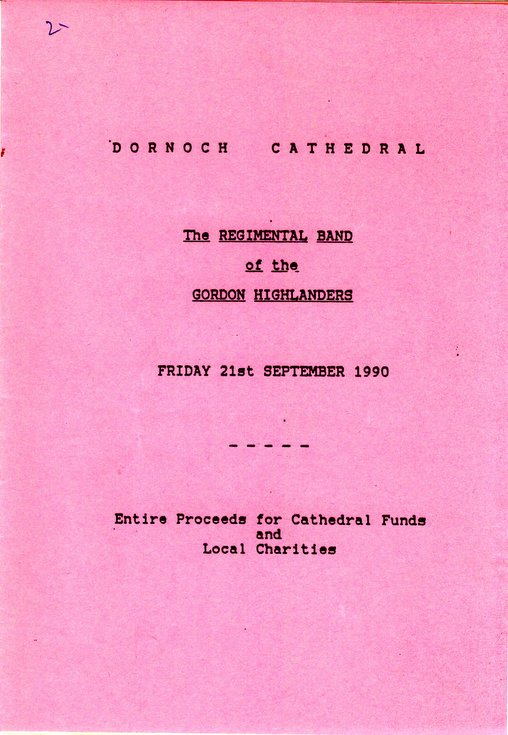 Concert by the Regimental Band of the Gordon Highlanders 1990