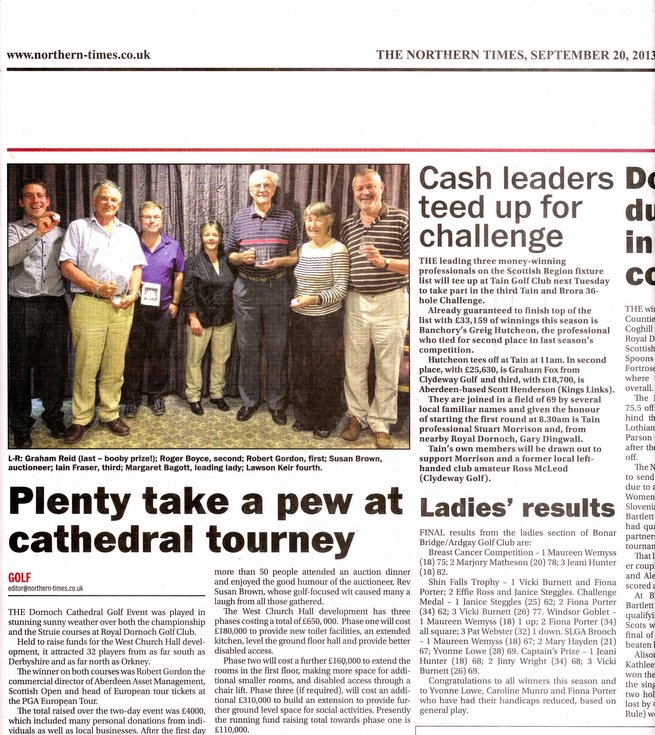 'Plenty take a pew at Cathedral tourney'