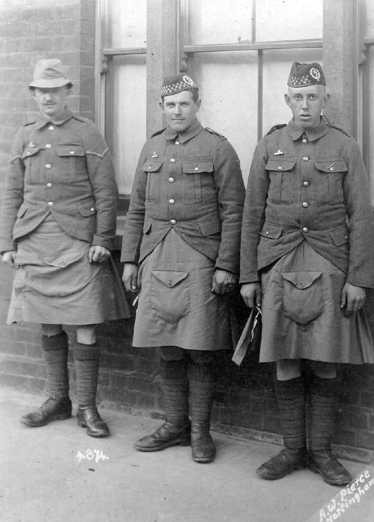 Three Seaforth Highlanders
