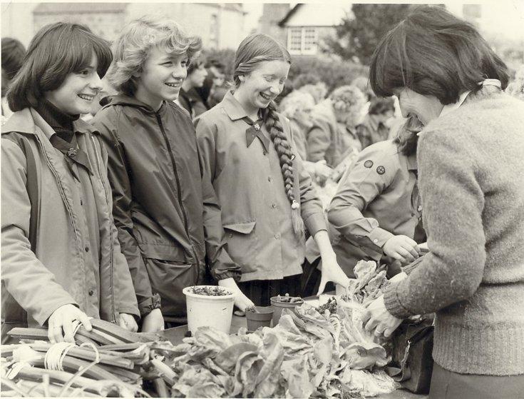 Dornoch Festival Week activities c 1979 - Street Market vegetable