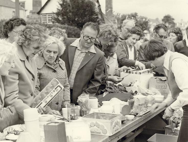 Dornoch Festival Week activities c 1979 - Street Market stall