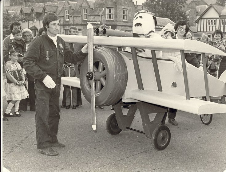 Dornoch Festival Week activities c 1979 - Pram race senior 'Snoopy'