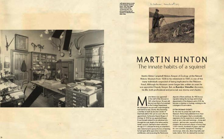 Martin Hinton - Natural History Museum magazine 'Evolve' article